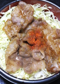 豚肉薄切りの甘辛焼きおとな味☆豚丼にも!