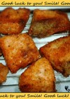 お弁当に☆塩鮭の香りパン粉焼き