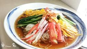 夏ランチ☆冷やし中華風ぶっかけ素麺