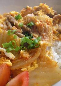 ☆スタミナ満点☆卵豚キムチ丼