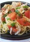 ♛胸肉とトマトの梅シソ冷製パスタ♛
