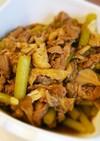 旬の食材♪ふきと豚肉、舞茸の甘辛煮
