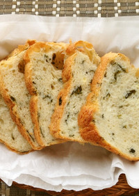 HBでモッチリ♡わかめチーズパン