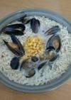 コストコ ムール貝で塩ラーメン