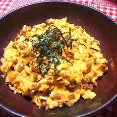 味噌納豆炒り卵