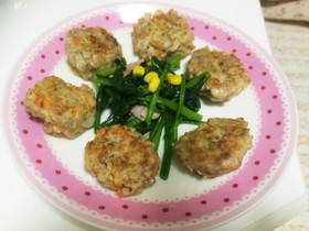 【菌活】野菜とえのきの肉団子