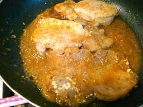 豚カツ用肉の焼き肉マヨバター炒め☆☆☆