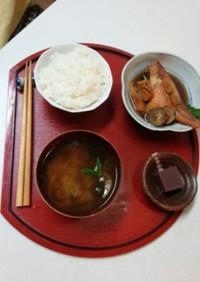 血管プラークダイエット食285(赤魚煮)
