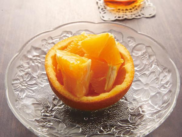 オレンジのリキュールがけ