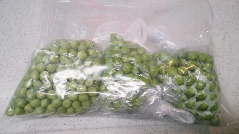えんどう豆の冷凍保存~生で冷凍~
