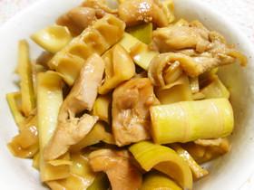 破竹と鶏もも肉のうま煮
