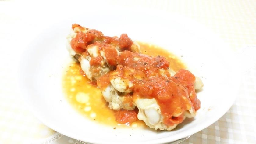 レンジで簡単♪鶏手羽元のトマトソース