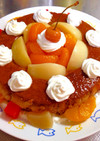 母の日プリンケーキアラモード