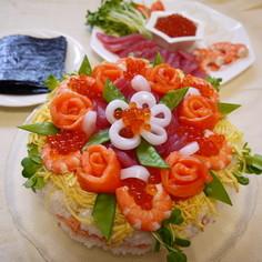 寿司ケーキからの手巻き寿司♪