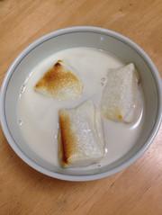 レンジで簡単!豆乳ぜんざいの写真