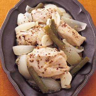 とりむね肉と玉ねぎのマスタード煮