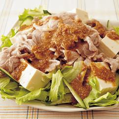 豚しゃぶとたっぷりレタスのサラダ