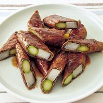 アスパラの牛肉巻き中華照り焼き