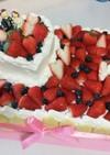 ケーキのデコレーションに赤ちゃんせんべい