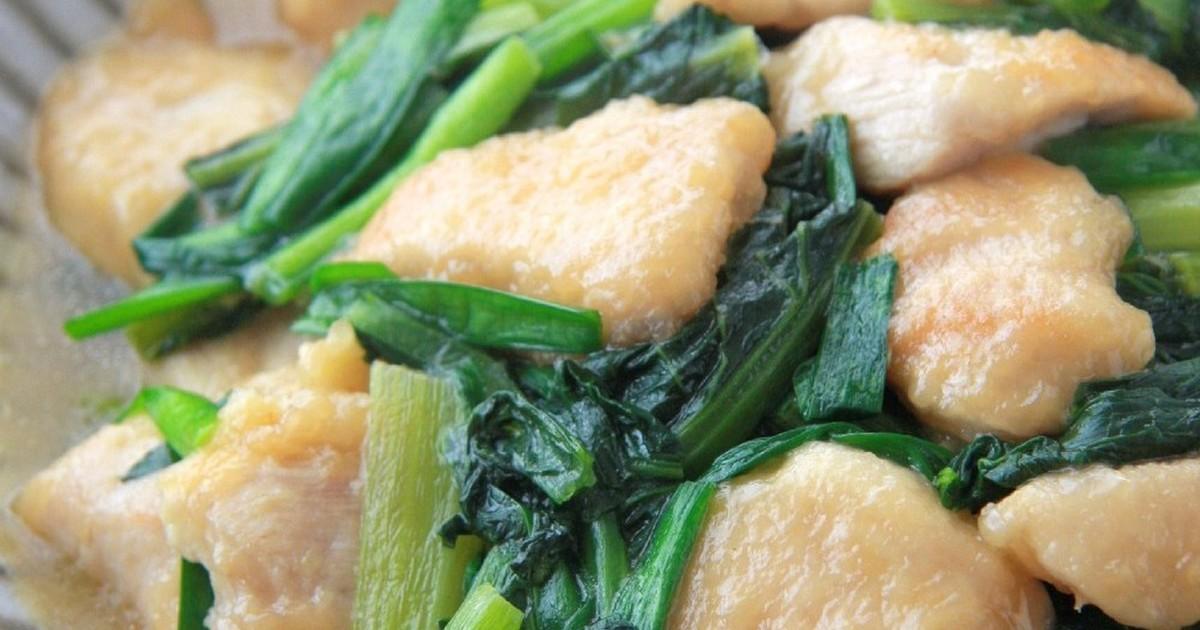 簡単!驚く柔らかさ鶏胸肉と小松菜の中華煮 by まこりんとペン子