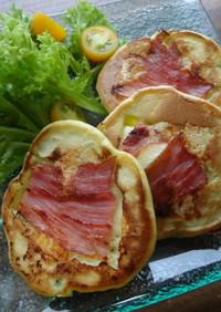 朝食弁当に♪アボカドベーコンパンケーキ