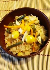 炊飯器*簡単!蕨・舞茸の山菜おこわ♪