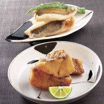 白身魚の変わり揚げ二種