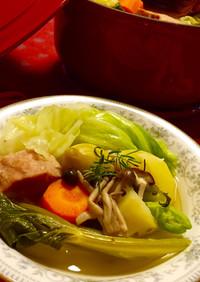 温まる~♪生姜とデカゴロ野菜の洋風ポトフ