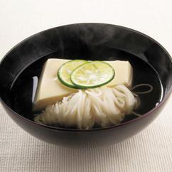 玉子豆腐とにゅうめんのお吸いもの