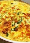 釜揚げエビと白い野菜の味噌グラタン