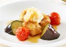 〔低たんぱく〕揚げ鶏と野菜のぽん酢がけ