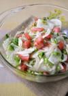 新玉ねぎとかぶとトマトのマリネ風サラダ