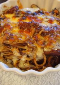 リメイク料理*スパゲッティグラタン