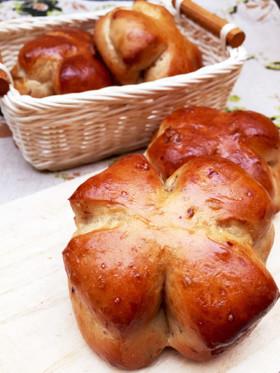 ホームベーカリーで◎黒糖くるみパン