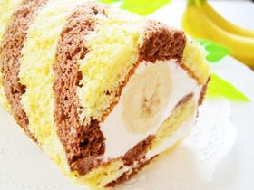 HM使用♪ストライプのバナナロールケーキ