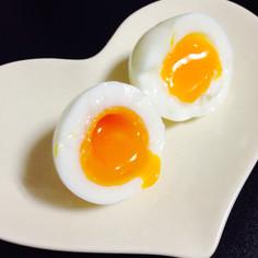おすすめ☆ガス代節約♬とろっとろ半熟卵♡