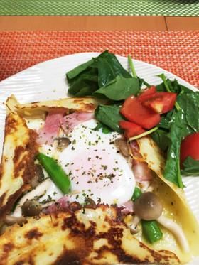 簡単!小麦粉ガレット☆朝食、ランチに