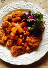 鶏胸肉のパセリパン粉焼き