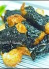 桜海老香る 山芋のモッチリ海苔揚げ
