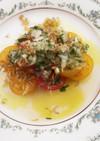 プチトマトとジャコの簡単サラダ