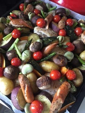 春野菜とチキンのぎゅうぎゅう焼き♪