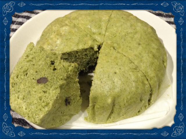 ホットケーキミックスで ヨモギ 蒸しパン