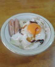 しっかり朝御飯 - 目玉焼き丼の写真