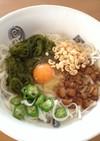 紀文糖質0g麺❤︎めかぶねばねば冷うどん