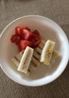 離乳食後期  コーンクリームサンドイッチ