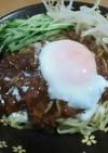 温玉ジャージャー麺(温泉卵は炊飯器で)