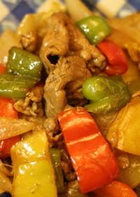 ラム肉野菜炒めオイスターソース