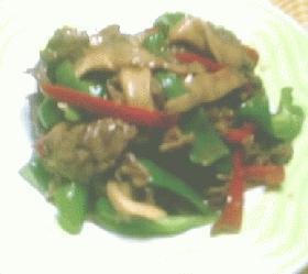 ひら茸と牛肉の牡蠣油炒め