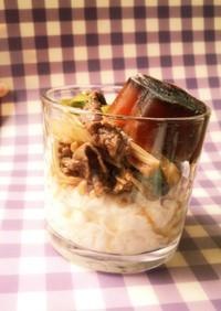 ダイエット☆こんにゃく冷麺弁当 牛すき風