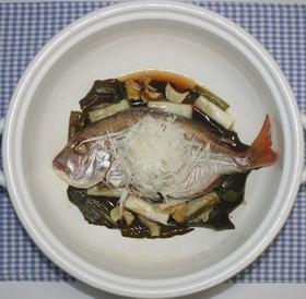 簡単☆おいしい☆鯛の干物で中華風酒蒸し